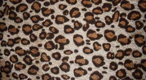 Leopardmodelldesign, moderiktig naturlig pälsbakgrund, sömlös verklig hårig textur för leopardpälsmodell Mode trend 2019 fotografering för bildbyråer