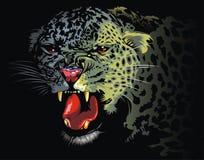 Leopardo de la selva stock de ilustración