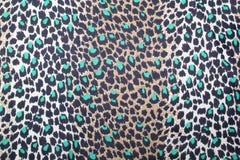 Leopardo de matérias têxteis Imagens de Stock