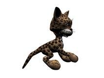 Leopardo del gatito stock de ilustración