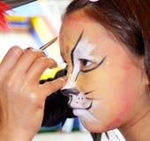 Leopardo della pittura del fronte fotografia stock libera da diritti