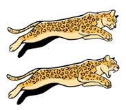 Leopardo di salto royalty illustrazione gratis