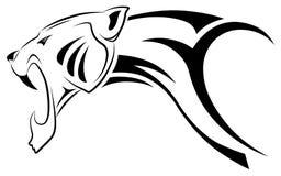 Leopardo di vettore, tatuaggio tribale Fotografia Stock