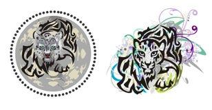 Leopardo dos jovens do Grunge Imagens de Stock Royalty Free