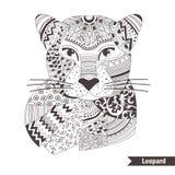 leopardo Livro de coloração Imagens de Stock