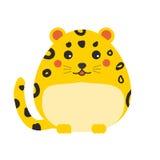 Leopardo sveglio I bambini disegnano, elementi isolati di progettazione, illustrazione di vettore illustrazione di stock