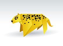 Leopardorigami Vektor Illustrationer