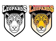Leopardos de la mascota stock de ilustración