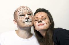 Leopardos de los pares Fotos de archivo