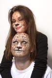 Leopardos de los pares Fotografía de archivo