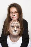 Leopardos de los pares Imagenes de archivo