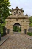 Leopold Gate, de gebouwde ingang aan de vesting Vysehrad, betwe Royalty-vrije Stock Foto