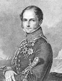 Leopold I of Belgium. (1790-1865) on engraving from 1859. First king of the Belgians. Engraved by Vogel junior and published in Meyers Konversations-Lexikon Stock Images