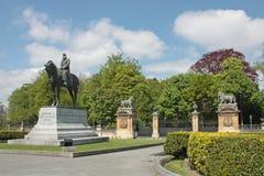 Leopold II monument   in   Brussel, België Royalty-vrije Stock Foto's