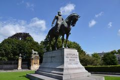 Leopold II statue - king of the Belgians Stock Photo