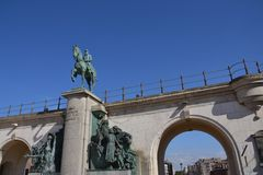 Leopold II statue - king of the Belgians Stock Photography
