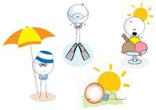 Leopold little man in summer Royalty Free Stock Photography