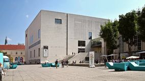Leopold Museum In Vienna stock video