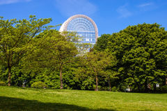 Leopold park and a building of European Parliament Royalty Free Stock Photos