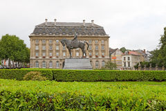 Leopold Statue and Building Stock Photo
