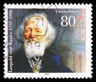 Leopold von Ranke (1795-1886), historiker, tvåhundraårig serie för födelse, circa 1995 royaltyfri bild