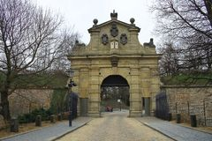The Leopolds Gate at Vysehrad, Prague, Czech Republic stock photo