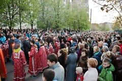 LEOPOLI, UCRAINA - 27 APRILE 2016: Passione di settimana santa e morte di J Immagine Stock