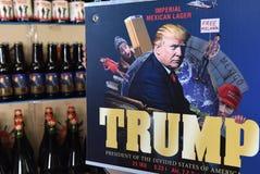 Leopoli, Ucraina - 20 maggio 2017: Un'etichetta di birra che caratterizza Presiden fotografia stock