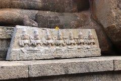 Lepakshi carvings Fotografering för Bildbyråer