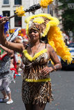 Lepard girl on a carnaval parade Stock Photo