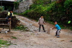 Lepcha children playing Royalty Free Stock Image