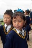 Lepcha Students at School Royalty Free Stock Photos