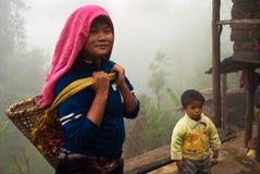 Lepcha tea garden worker Royalty Free Stock Photo