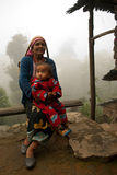 Lepcha Woman with baby Stock Photo