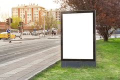 ?lepej billboardu miasta zdjęcia stock