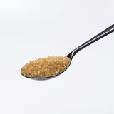 Lepel bruine suiker Royalty-vrije Stock Afbeelding
