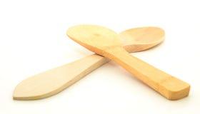 Lepel en houten Stock Foto