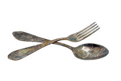Lepel en vork Royalty-vrije Stock Afbeelding