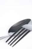Lepel en vork stock fotografie