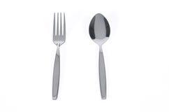 Lepel en vork royalty-vrije stock foto