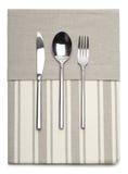 Lepel, mes en vork Royalty-vrije Stock Afbeelding