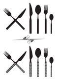 Lepel, mes en vork Stock Fotografie
