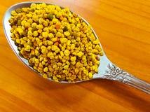 Lepel met bijenstuifmeel Royalty-vrije Stock Fotografie
