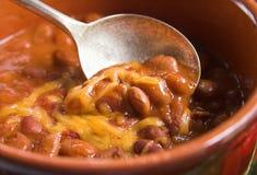 Lepel van Spaanse peper stock afbeelding