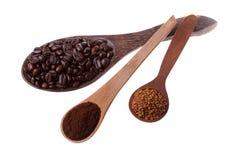 Lepels en koffie Royalty-vrije Stock Foto