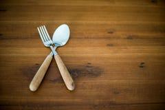 Lepels en vork Stock Foto's
