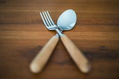 Lepels en vork Royalty-vrije Stock Fotografie