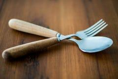 Lepels en vork Stock Fotografie