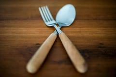 Lepels en vork Royalty-vrije Stock Foto's