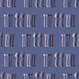 Lepels, Vorken, het Patroonstaal van het Messen Vectorbestek royalty-vrije illustratie